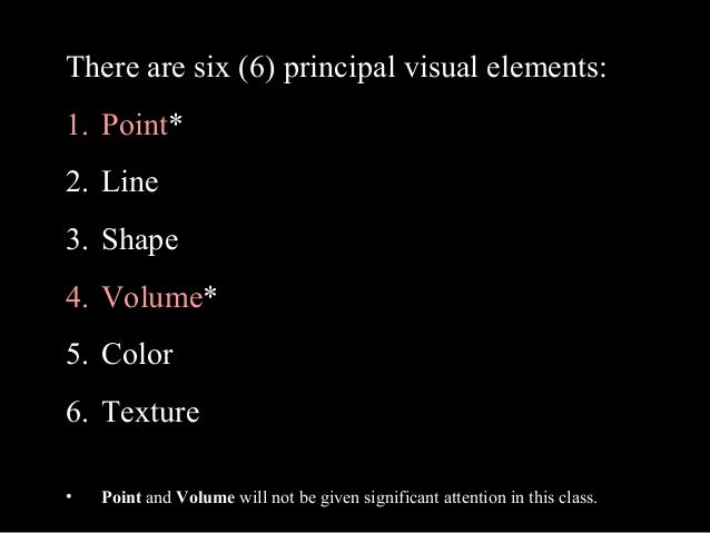 Visual Elements Line : The visual elements line