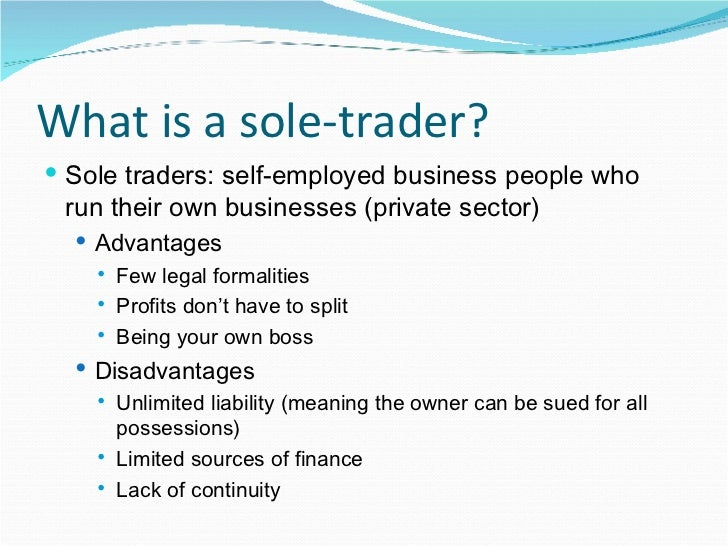 meaning about single trader