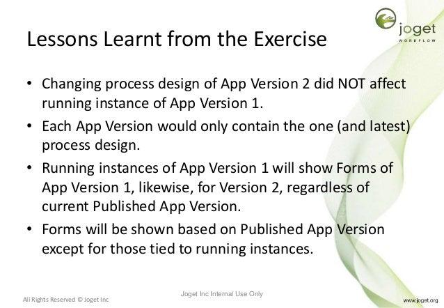 Joget Workflow v5 Training Slides - Module 12 - Version Control