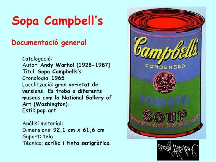 <ul><li>Documentació general </li></ul><ul><ul><li>Catalogació:  </li></ul></ul><ul><ul><li>Autor:  Andy Warhol  (1928-198...