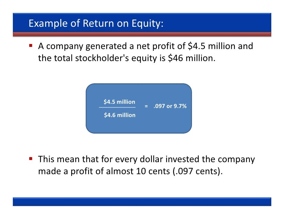 Financial Ratios What The Financial Statements