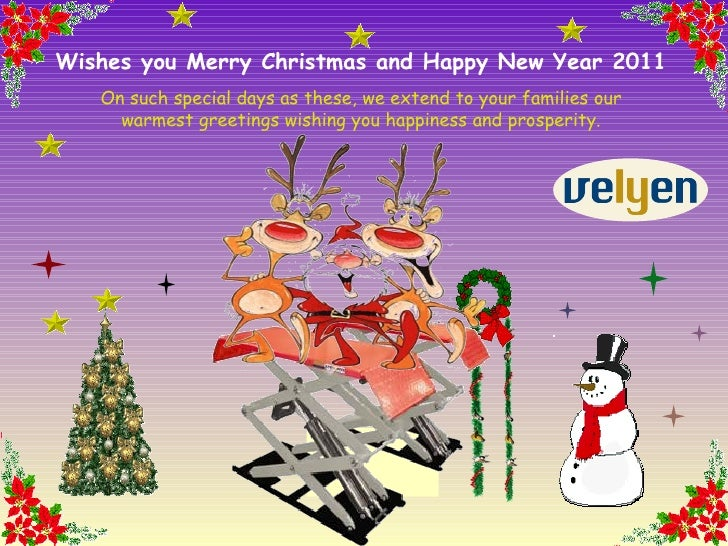 wishes you merry christmas and happy new year 2011 on such special days as these