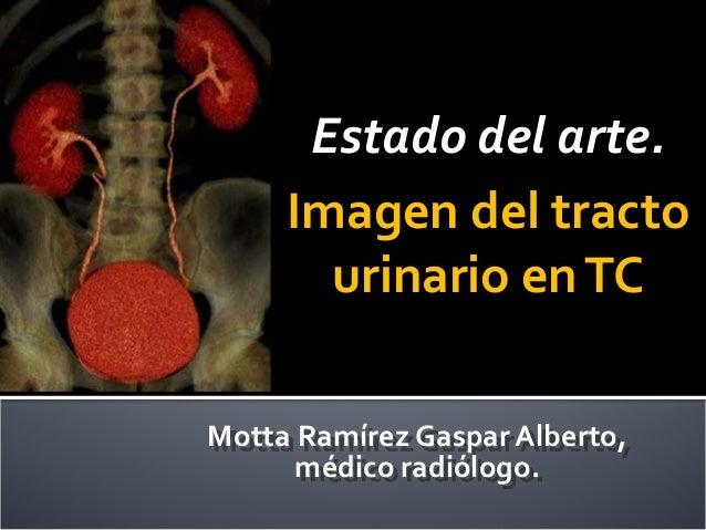 Motta Ramírez Gaspar Alberto, médico radiólogo. Estado del arte. Imagen del tracto urinario enTC