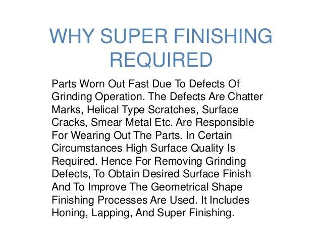 superfinishing process