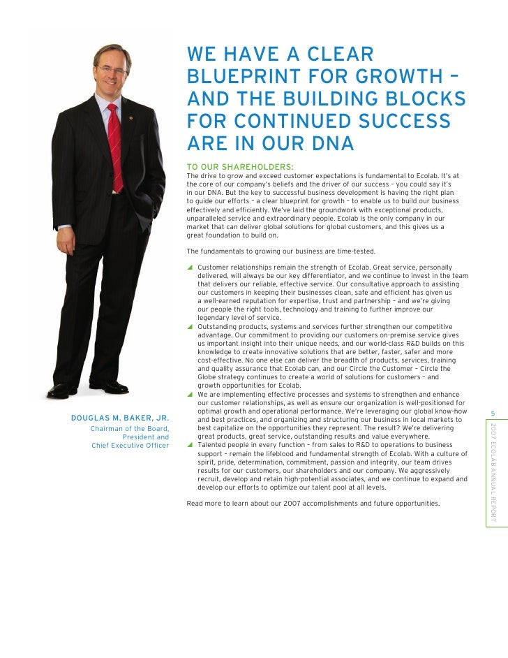 WE HAVE A CLEAR                               BLUEPRINT FOR GROWTH –                               AND THE BUILDING BLOCKS...