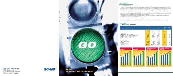 GO  2004 Ecolab Annual Report
