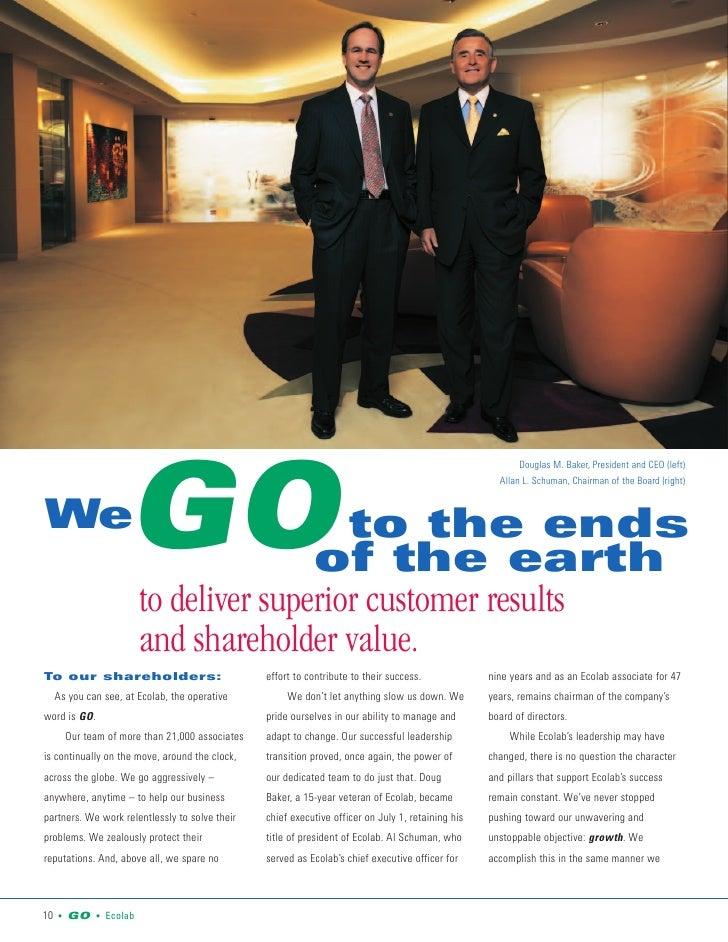 Douglas M. Baker, President and CEO (left)                         GO                                                     ...