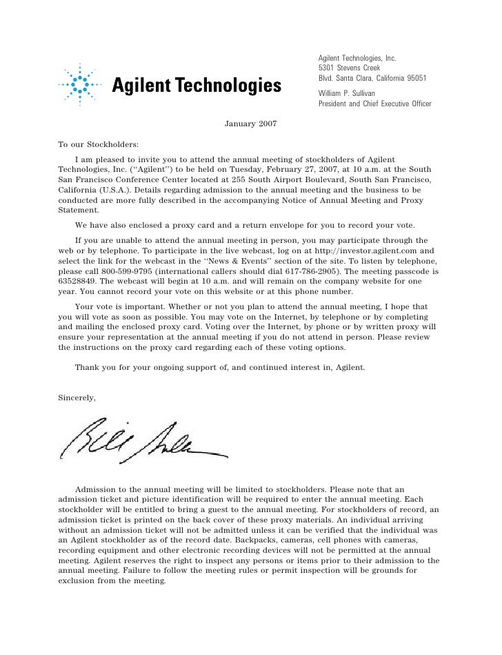 Agilent Technologies, Inc.                                                                         5301 Stevens Creek     ...