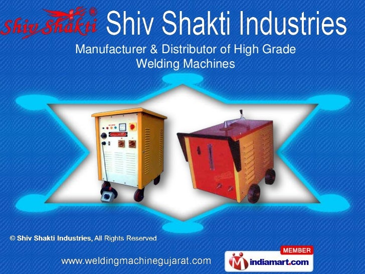 Manufacturer & Distributor of High Grade          Welding Machines