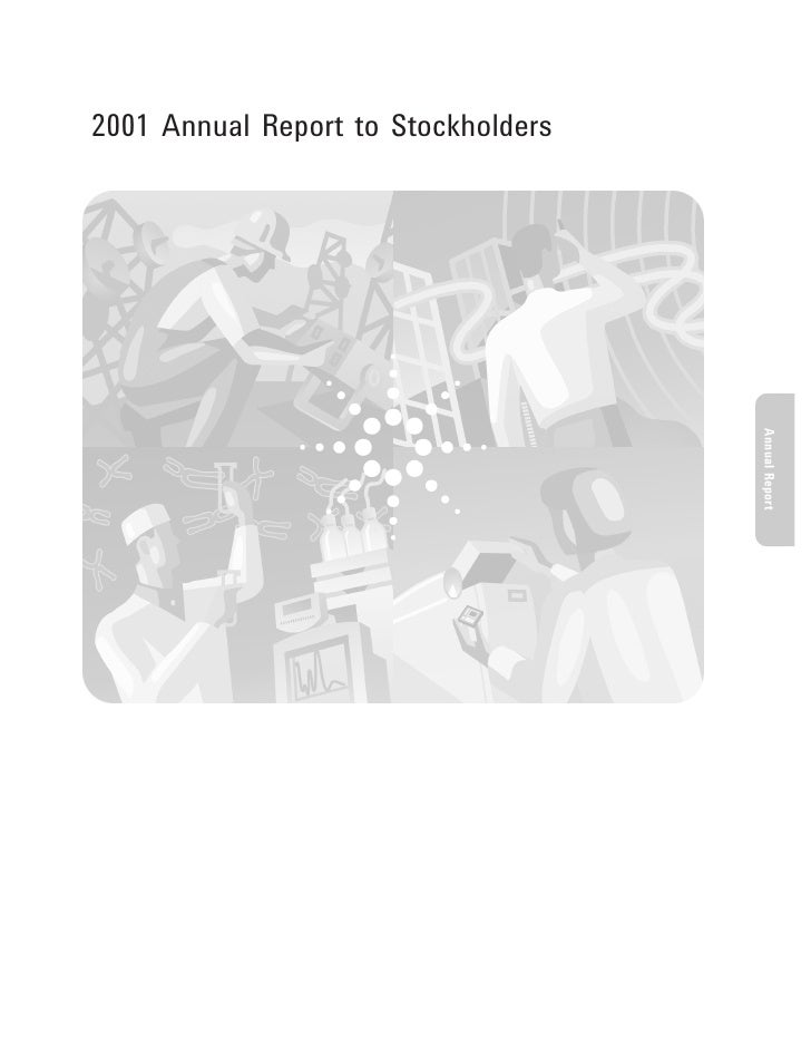 2001 Annual Report to Stockholders                                          Annual Report