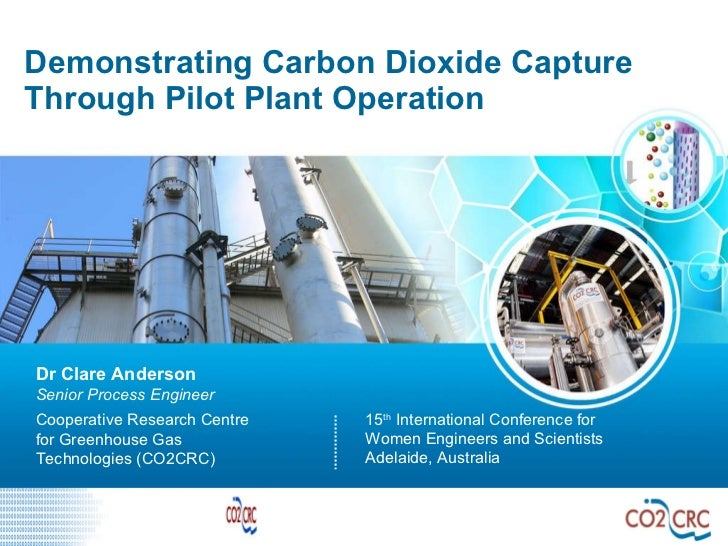 Demonstrating Carbon Dioxide Capture Through Pilot Plant Operation 15 th  International Conference for Women Engineers and...