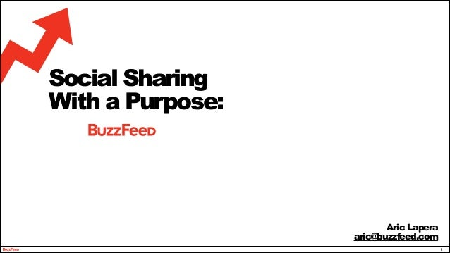!1 Social Sharing With a Purpose: Aric Lapera aric@buzzfeed.com