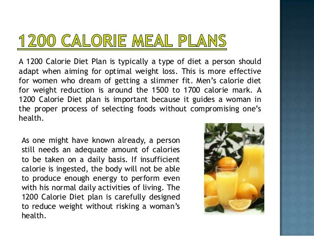 1300 Calorie diet and meal plan