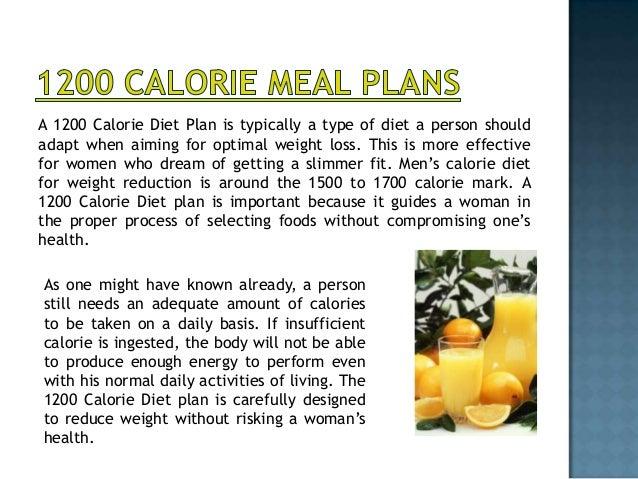 3. A 1200 Calorie Diet ...