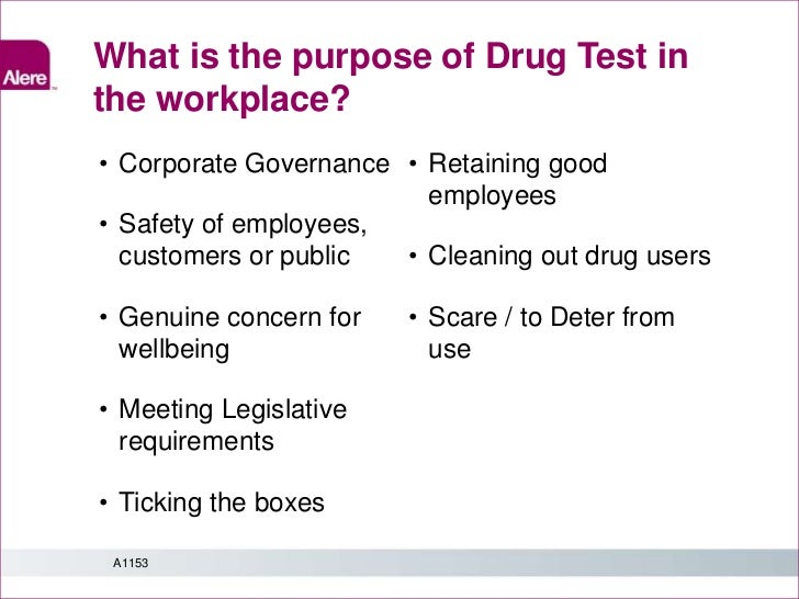 Drug and alcohol testing in the workplace: moral, ethical and legal issues