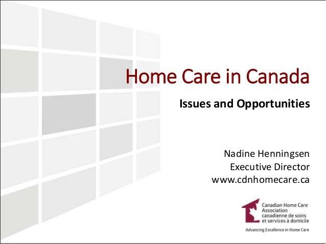 Nursing home care in Canada
