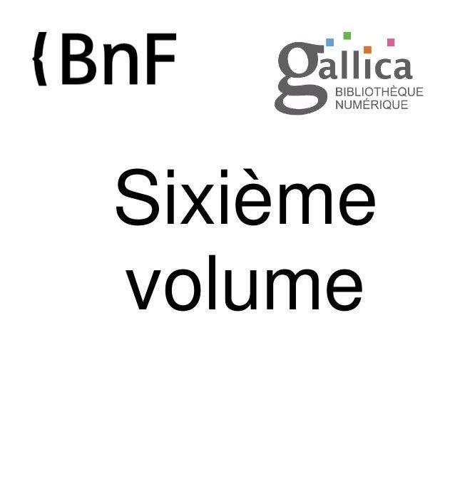 Sixième volume