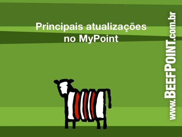 Principais atualizações no MyPoint