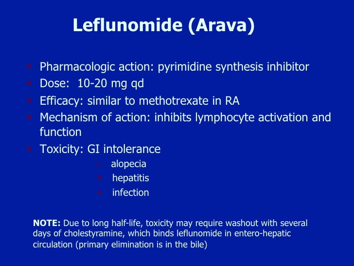Leflunomide And Methotrexate Psoriatic Arthritis