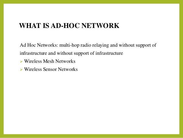 Ad hoc network - Ad hoc gijon ...