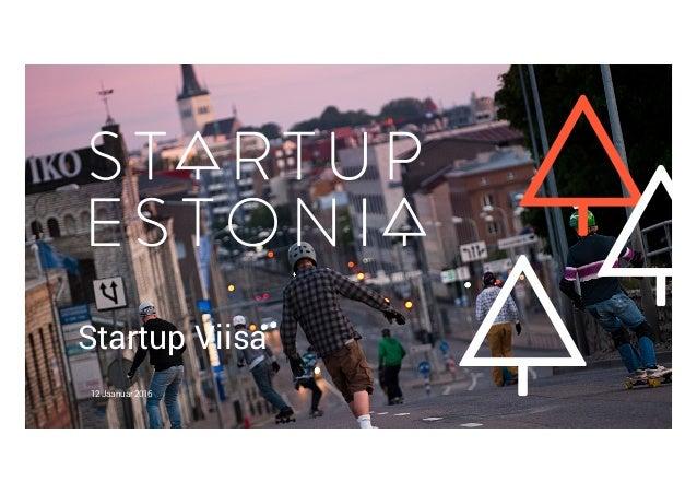 Startup Viisa 12 Jaanuar 2016