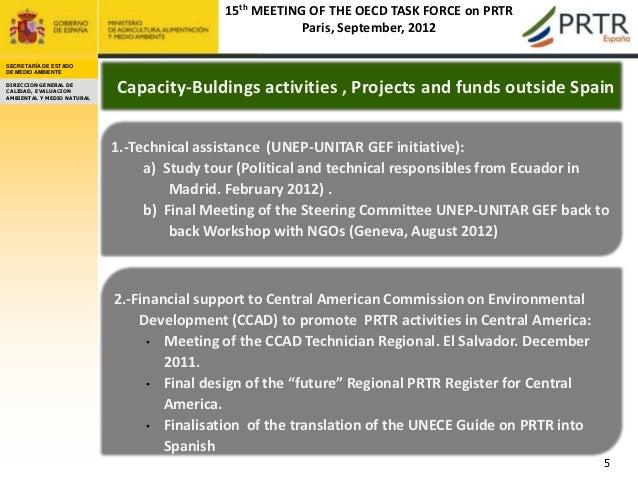 15th MEETING OF THE OECD TASK FORCE on PRTR                                                        Paris, September, 2012S...