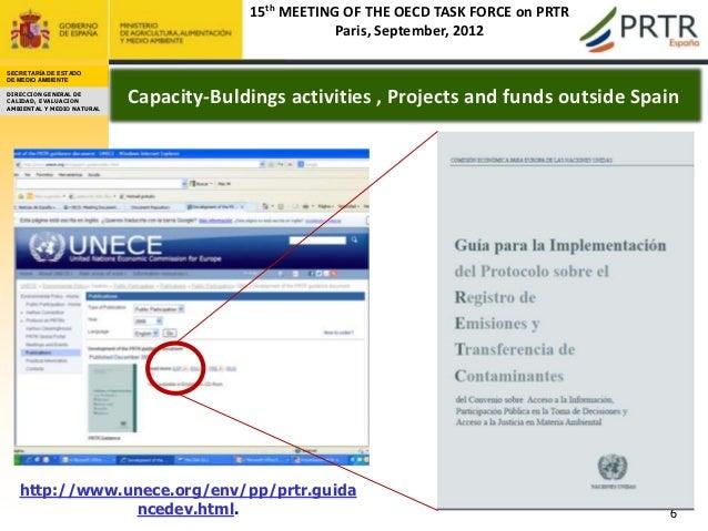 15th MEETING OF THE OECD TASK FORCE on PRTR                                                     Paris, September, 2012SECR...