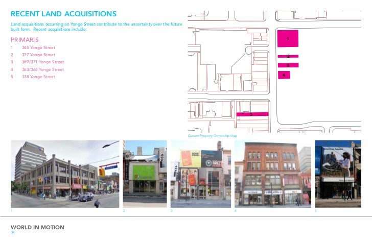 WHAT WE HEARD FROM LANDOWNERSEnhance the intensity & diversity of Yonge Street as alively pedestrian space.               ...