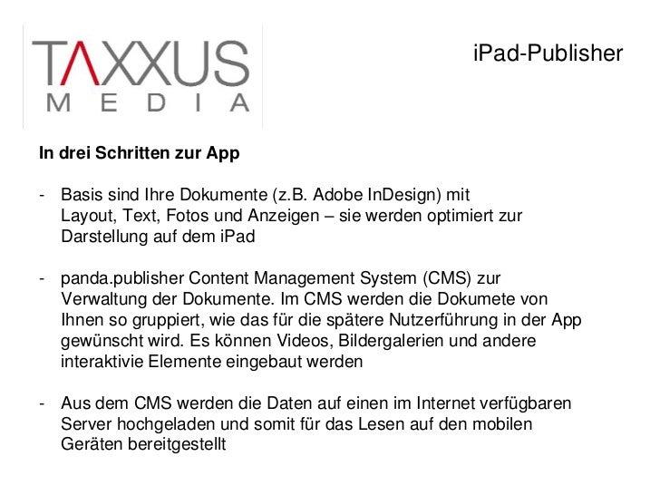 120124 taxxus i_pad_produktion Slide 3