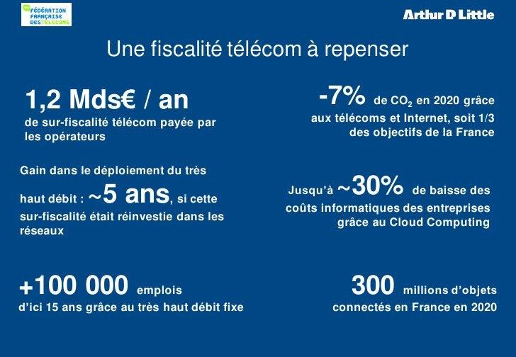 Une fiscalité télécom à repenser 1,2 Mds€ / an                                    -7% de CO       2 en 2020 grâce de sur-f...