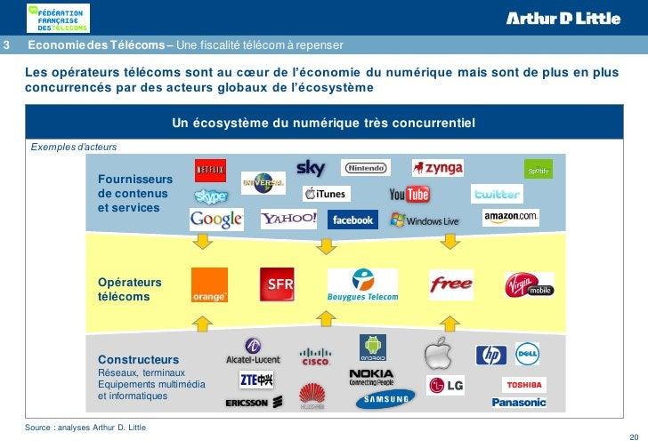 3   Economie des Télécoms – Une fiscalité télécom à repenser    Les opérateurs télécoms sont au cœur de l'économie du numé...