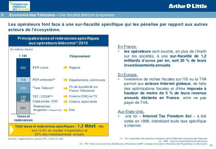 3   Economie des Télécoms – Une fiscalité télécom à repenser    Les opérateurs font face à une sur-fiscalité spécifique qu...