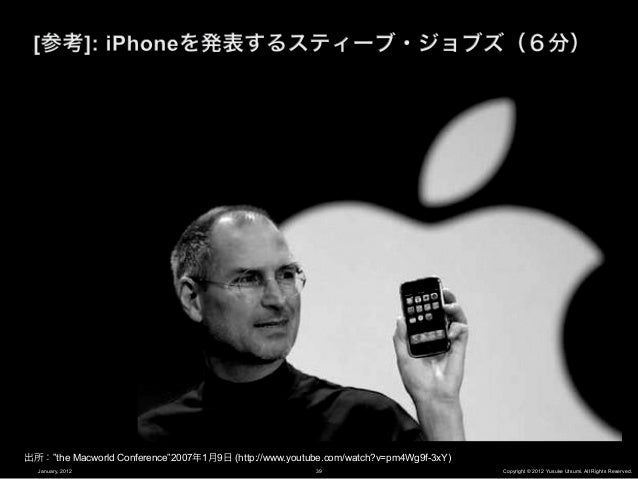 iPhoneが解決した                     「問題」は何か?January, 2012   40           Copyright © 2012 Yusuke Utsumi. All Rights Reserved.