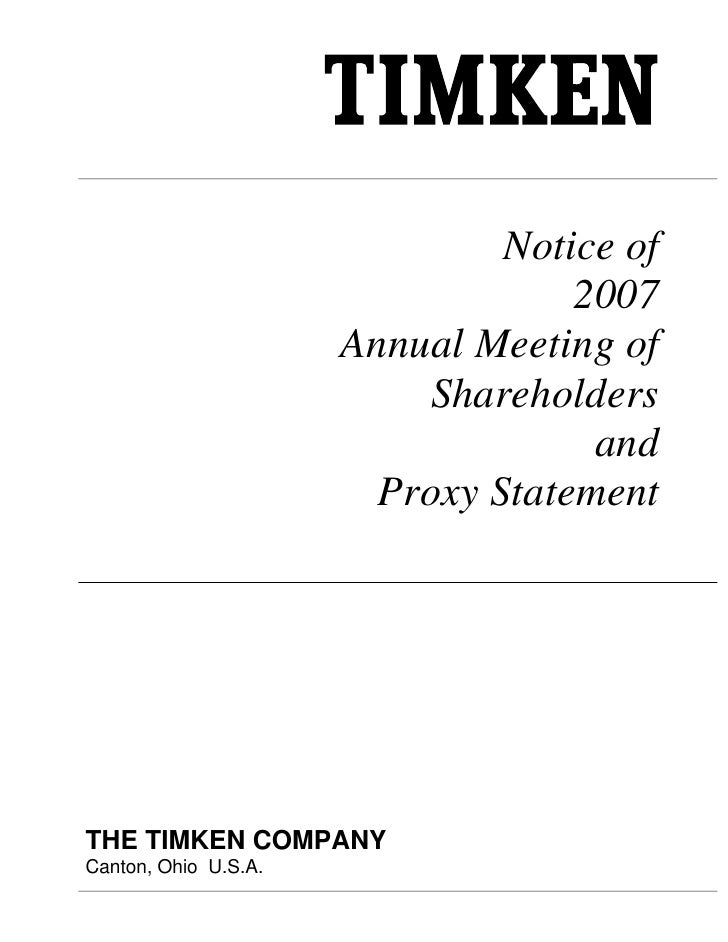 Notice of                                    2007                       Annual Meeting of                           Shareh...
