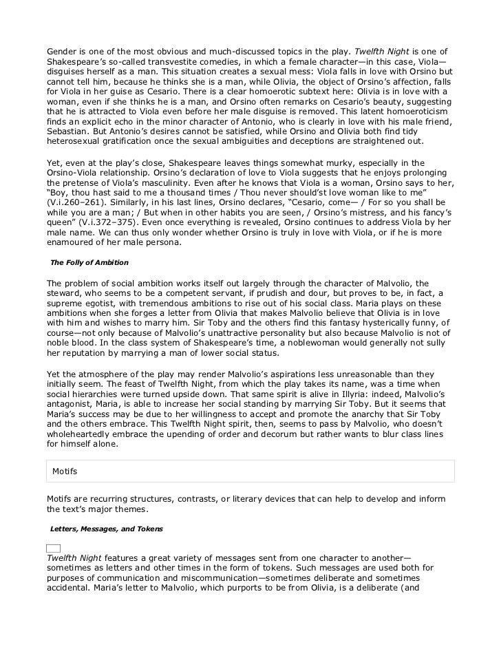 twelfth night analysis pdf