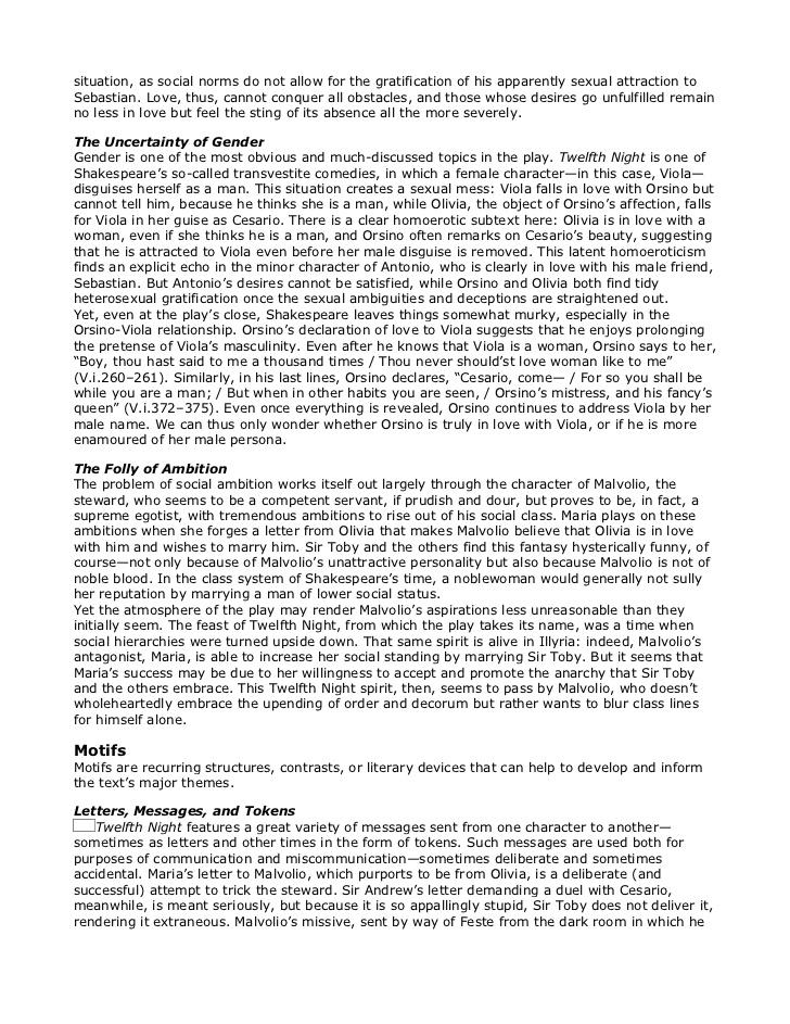 Twelfth night essay on love
