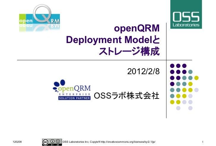 openQRM             Deployment Model                                                                                      ...