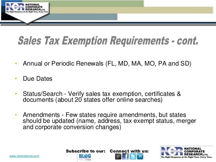 Sales and Use Tax Exemptions for Nonprofits