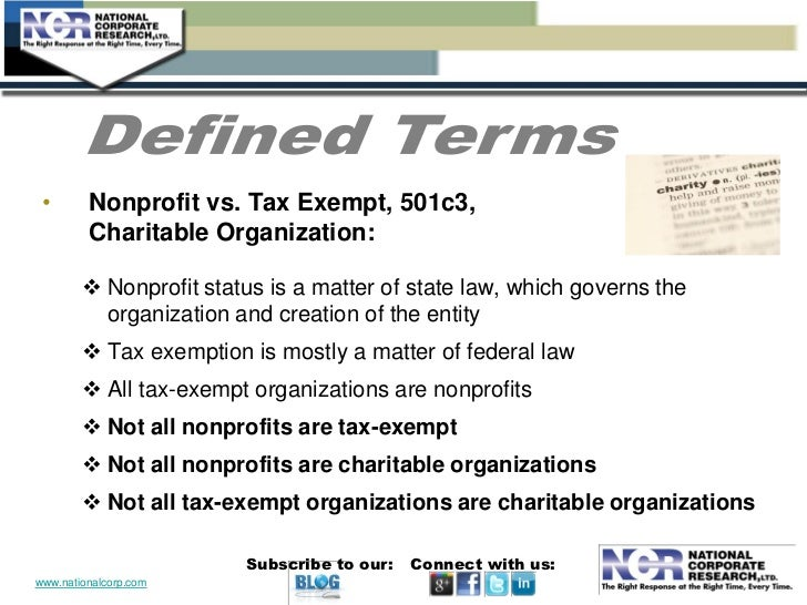 tax exempt status definition