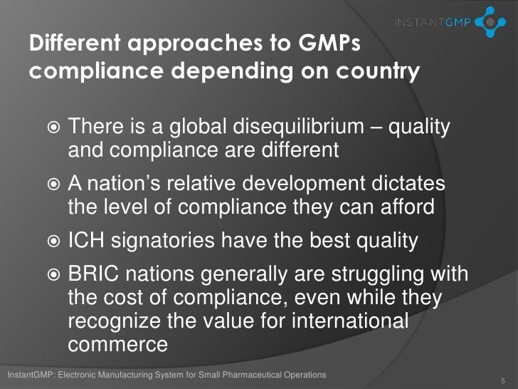 Gmp Manufacturing For Worldwide Clinical Trials