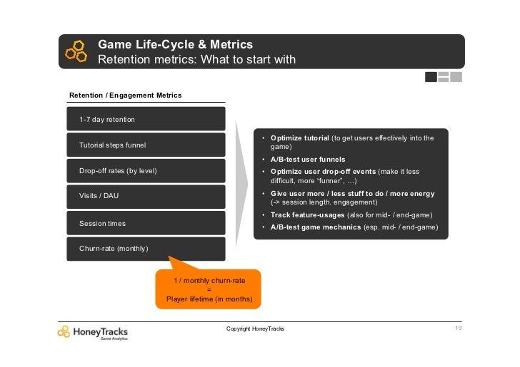 Game Life-Cycle & Metrics       Retention metrics: What to start withRetention / Engagement Metrics  1-7 day retention    ...