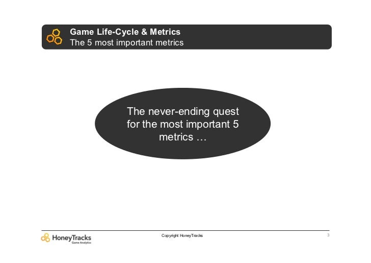 Game Life-Cycle & MetricsThe 5 most important metrics              The never-ending quest              for the most import...