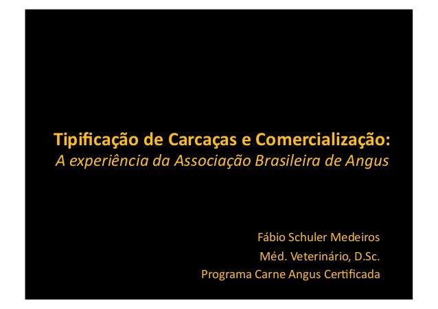 Tipificação de Carcaças e Comercialização:  A experiência da Associação Brasileira de Angus      ...