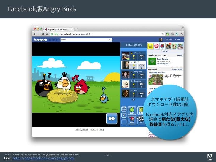Facebook版Angry Birds                                                                                    スマホアプリ版累計         ...