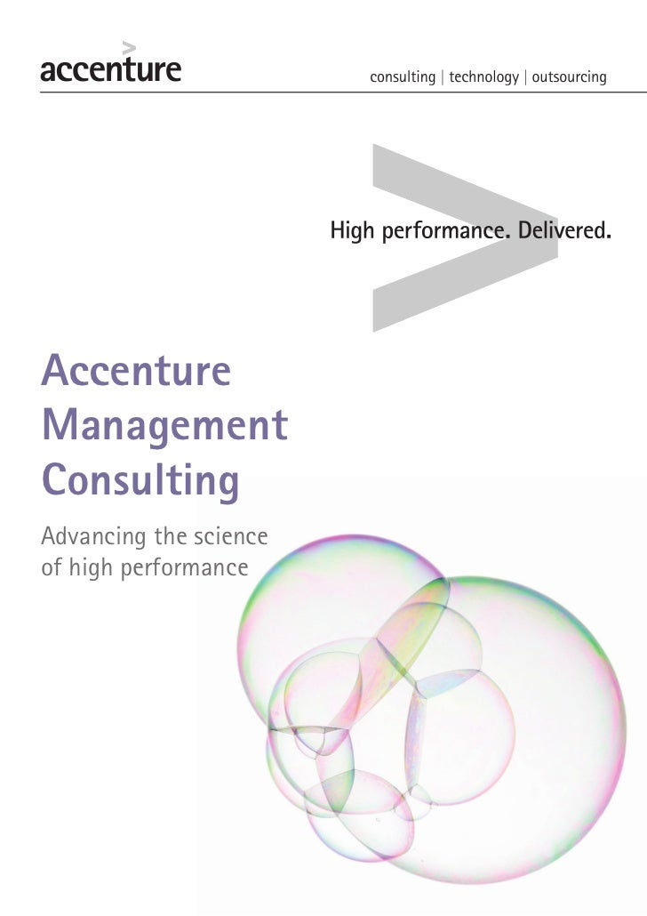 AccentureManagementConsultingAdvancing the scienceof high performance