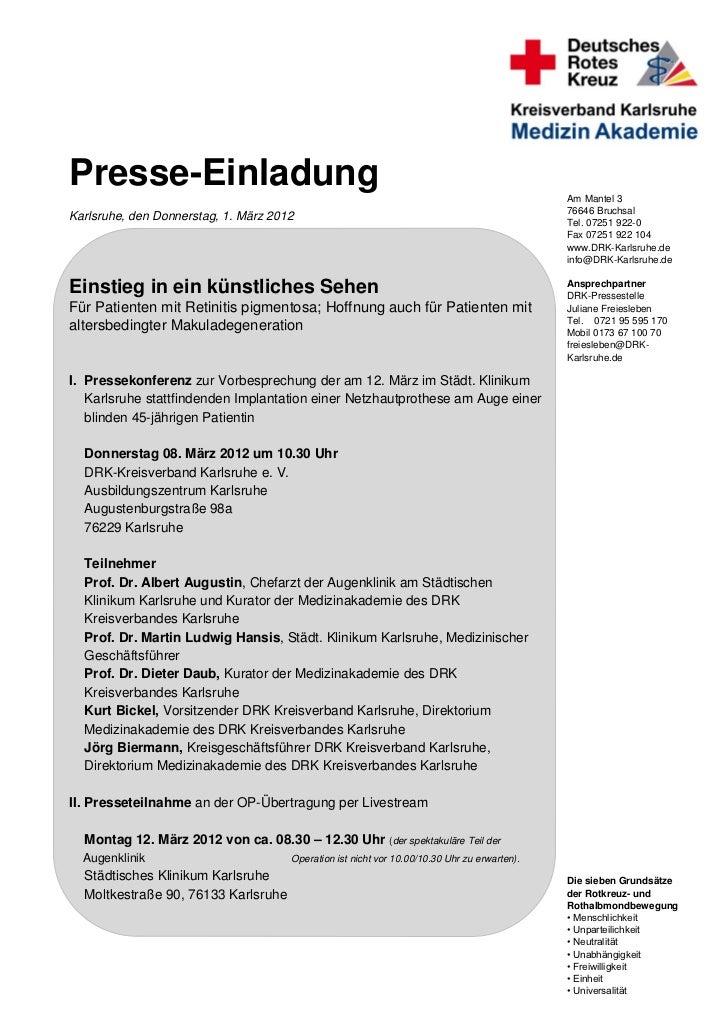 Presse-Einladung                                                                              Am Mantel 3                 ...