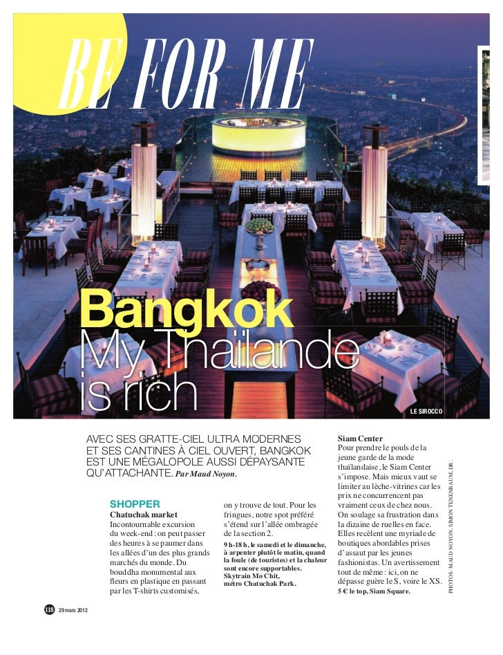 Be for me             Bangkok             My Thaïlande             is rich                                                ...