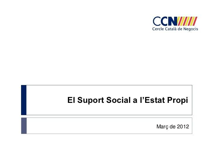 El Suport Social a l'Estat Propi                       Març de 2012