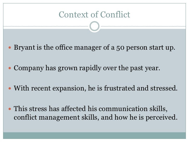 conflict resolution 4 essay The source of the conflict between the team member and me was a difference in opinion on how to organize the group assigned task again, not all conflicts are the same, and for this reason.