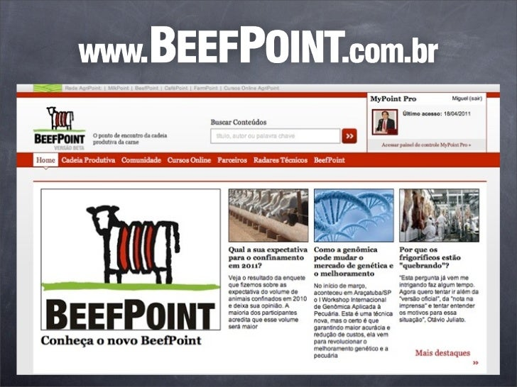 Um verdadeiro MBA empecuária de corte de alto nível. workshop.beefpoint.com.br